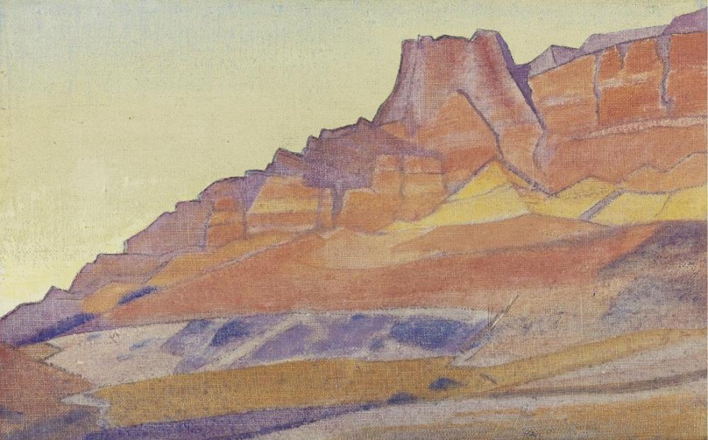 Nicholas Roerich, Budist Mağaraların Kayaları, Kanvas Tablo, Nicholas Roerich, kanvas tablo, canvas print sales