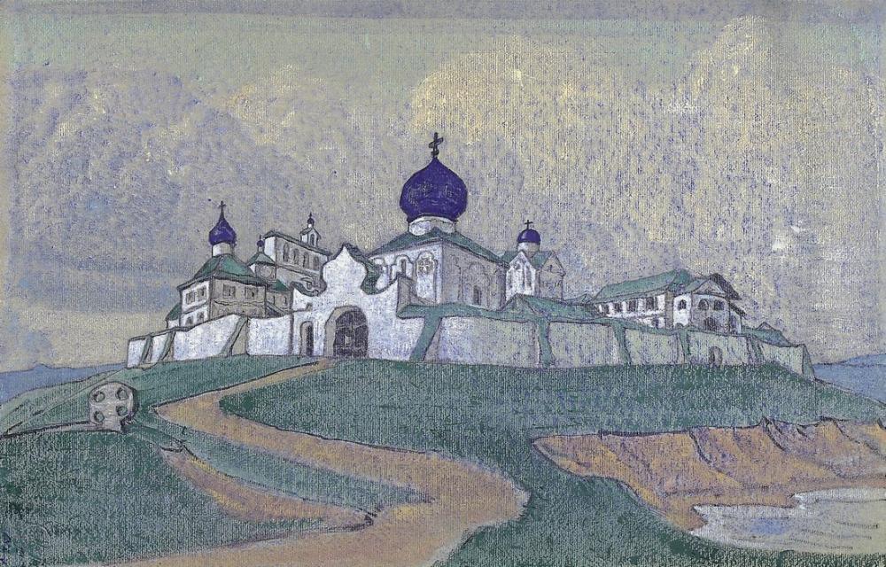 Nicholas Roerich, Manastır, Kanvas Tablo, Nicholas Roerich, kanvas tablo, canvas print sales