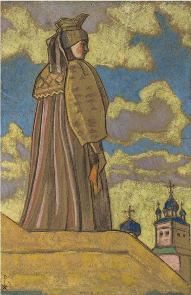 Nicholas Roerich, Snegorouchka için Kostüm Tasarımı, Figür, Nicholas Roerich, kanvas tablo, canvas print sales