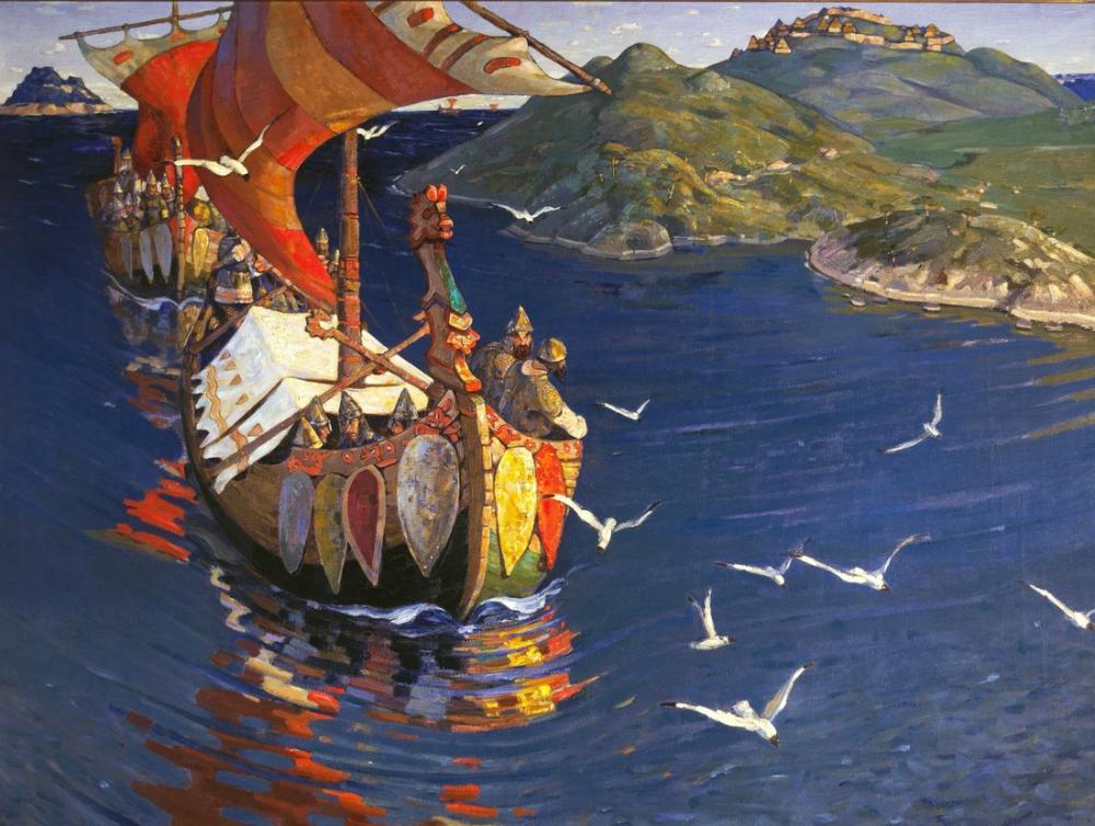 Nicholas Roerich, Denizaşırı Konuklar, Kanvas Tablo, Nicholas Roerich, kanvas tablo, canvas print sales
