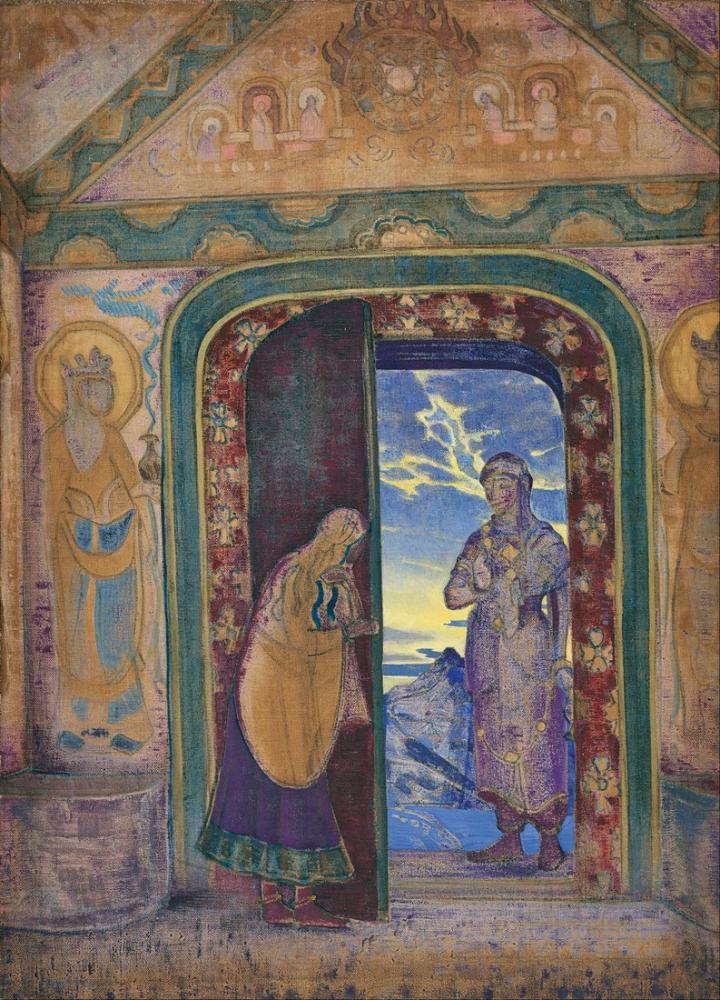 Nicholas Roerich, the Messenger, Canvas, Nicholas Roerich, kanvas tablo, canvas print sales