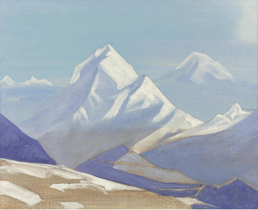 Nicholas Roerich, Himalaya Manzara, Kanvas Tablo, Nicholas Roerich, kanvas tablo, canvas print sales