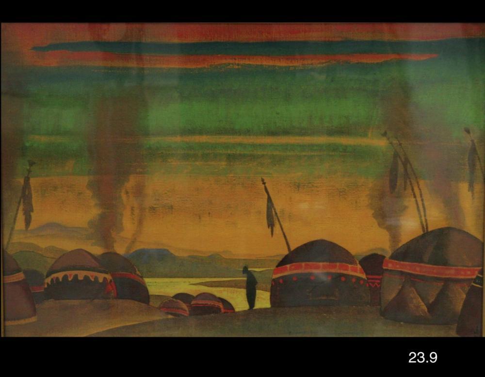 Nicholas Roerich, The Polovetzky Camp, Canvas, Nicholas Roerich, kanvas tablo, canvas print sales