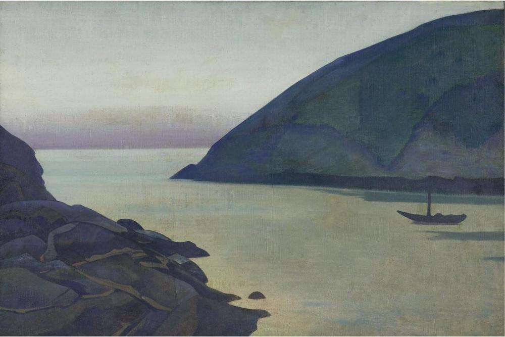 Nicholas Roerich, Monhegan, Maine Serisi Okyanustan, Kanvas Tablo, Nicholas Roerich, kanvas tablo, canvas print sales