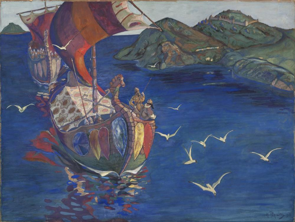 Nicholas Roerich, Overseas Guests, Canvas, Nicholas Roerich, kanvas tablo, canvas print sales