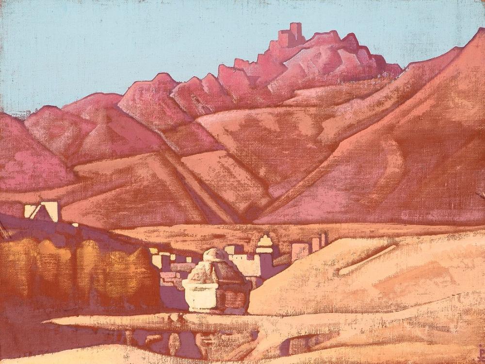 Nicholas Roerich, the Village Kozy, Canvas, Nicholas Roerich, kanvas tablo, canvas print sales