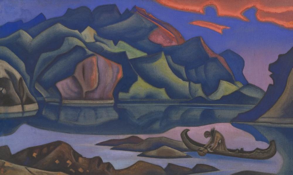 Nicholas Roerich, Hidden Treasure, Figure, Nicholas Roerich, kanvas tablo, canvas print sales