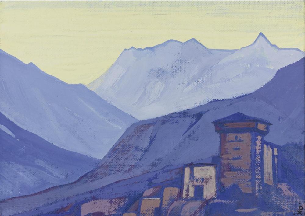 Nicholas Roerich, Himalayalar Thakur un Evi, Gundla, Kanvas Tablo, Nicholas Roerich, kanvas tablo, canvas print sales