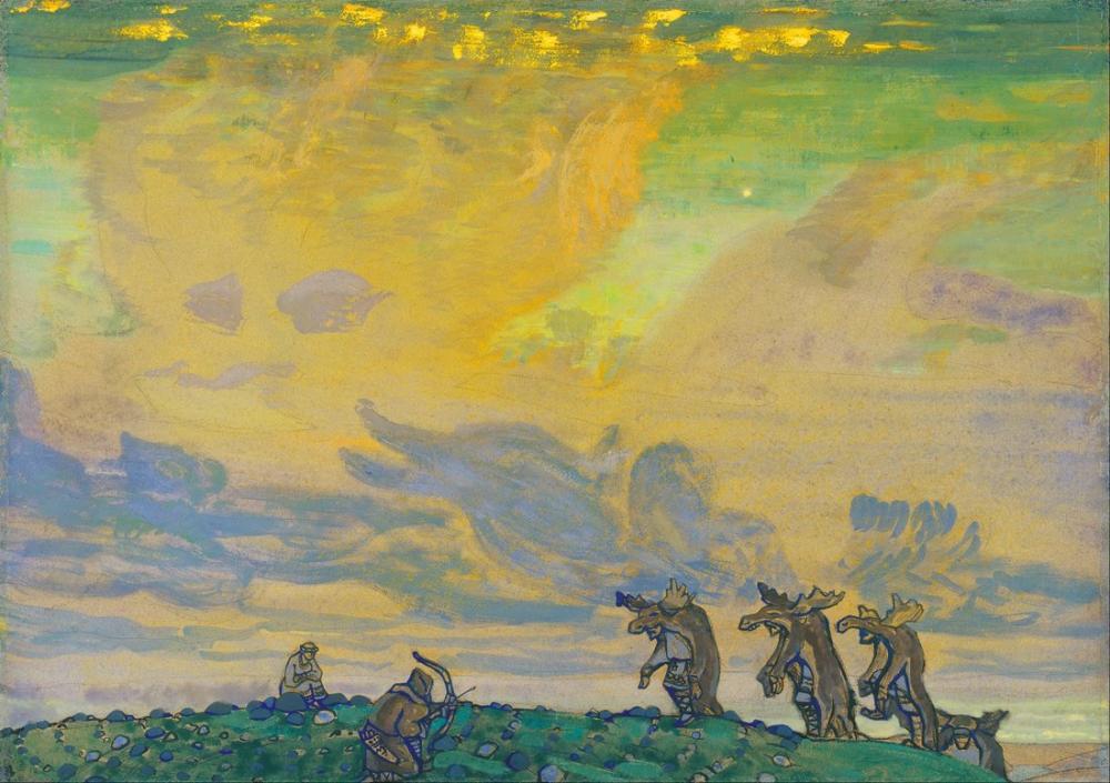 Nicholas Roerich, Sacre du Printemps, Figure, Nicholas Roerich, kanvas tablo, canvas print sales