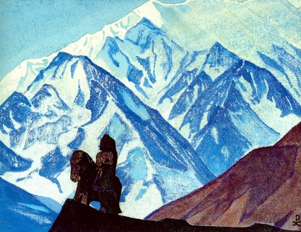Nicholas Roerich, Guga Chohan, Figür, Nicholas Roerich, kanvas tablo, canvas print sales
