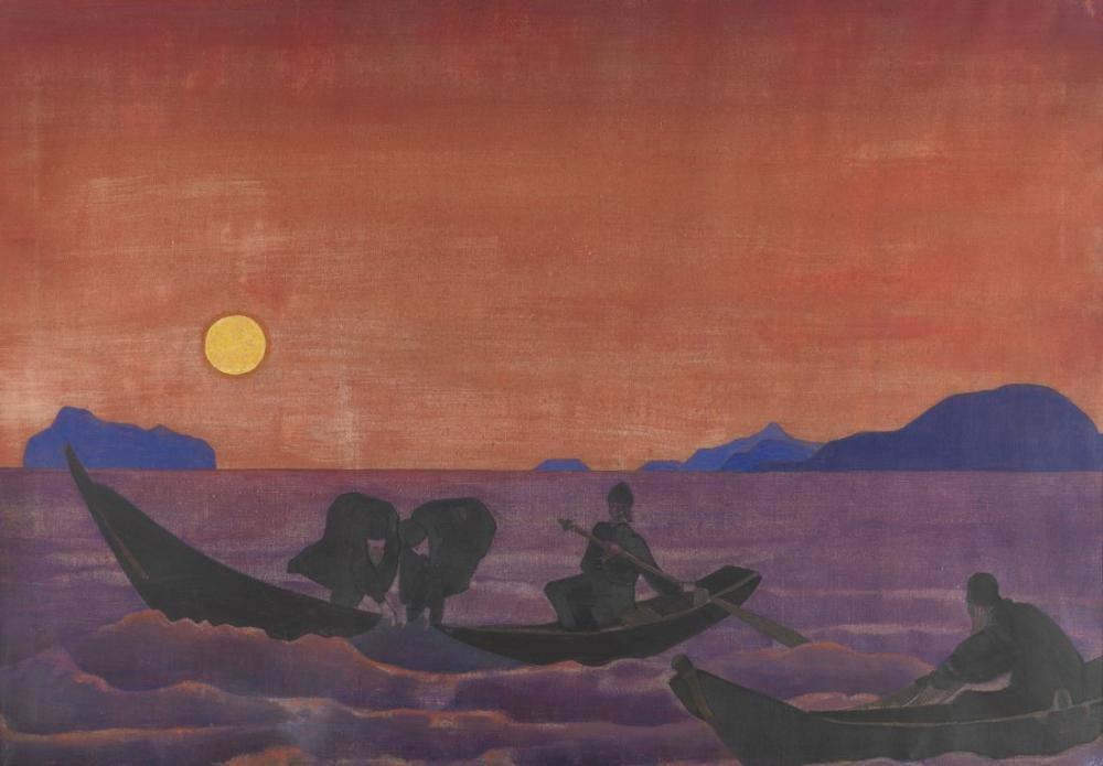 Nicholas Roerich, Sancta Serisinden Balık Avına Devam Ediyoruz, Kanvas Tablo, Nicholas Roerich, kanvas tablo, canvas print sales