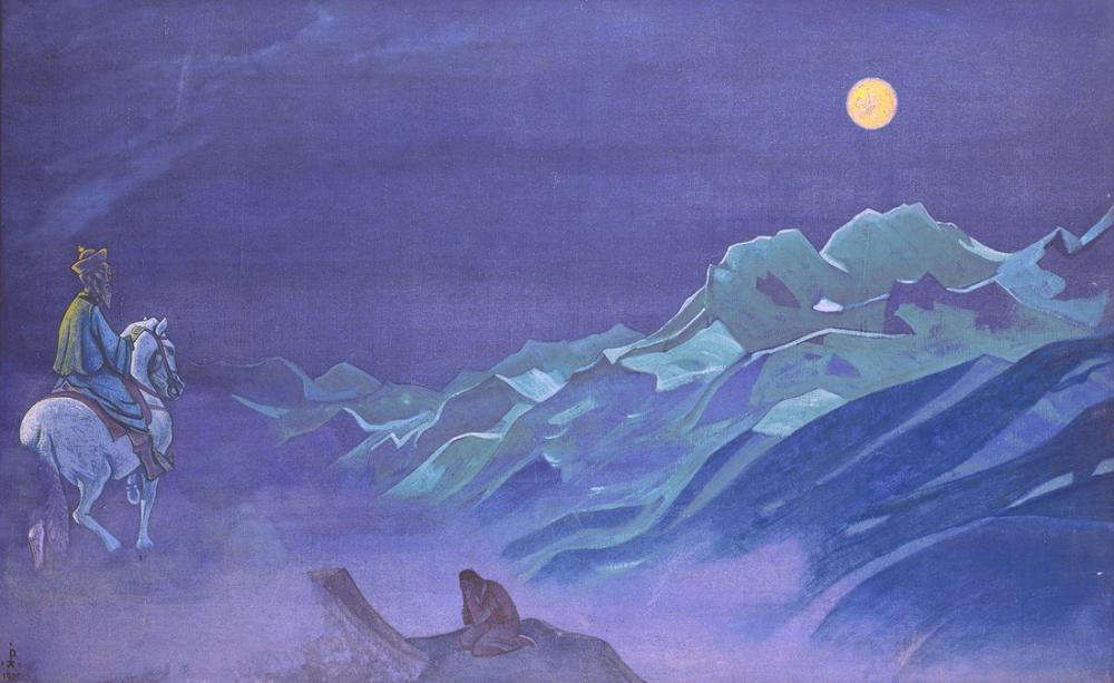 Nicholas Roerich, Oirot Messenger of the White Burkhan, Canvas, Nicholas Roerich, kanvas tablo, canvas print sales