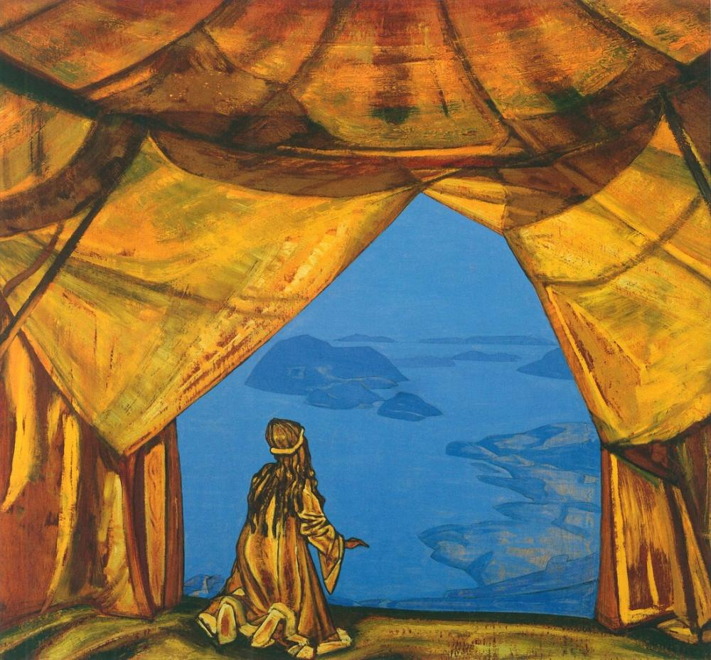 Nicholas Roerich, Lord of the Night, Canvas, Nicholas Roerich, kanvas tablo, canvas print sales