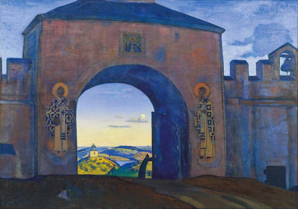Nicholas Roerich, Ve Kapıları Açıyoruz, Kanvas Tablo, Nicholas Roerich, kanvas tablo, canvas print sales
