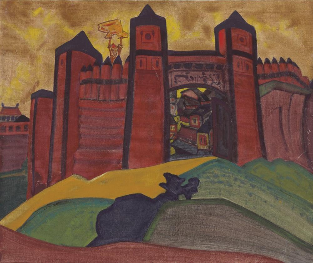 Nicholas Roerich, Tmutarakan ın Kapıları, Kanvas Tablo, Nicholas Roerich, kanvas tablo, canvas print sales