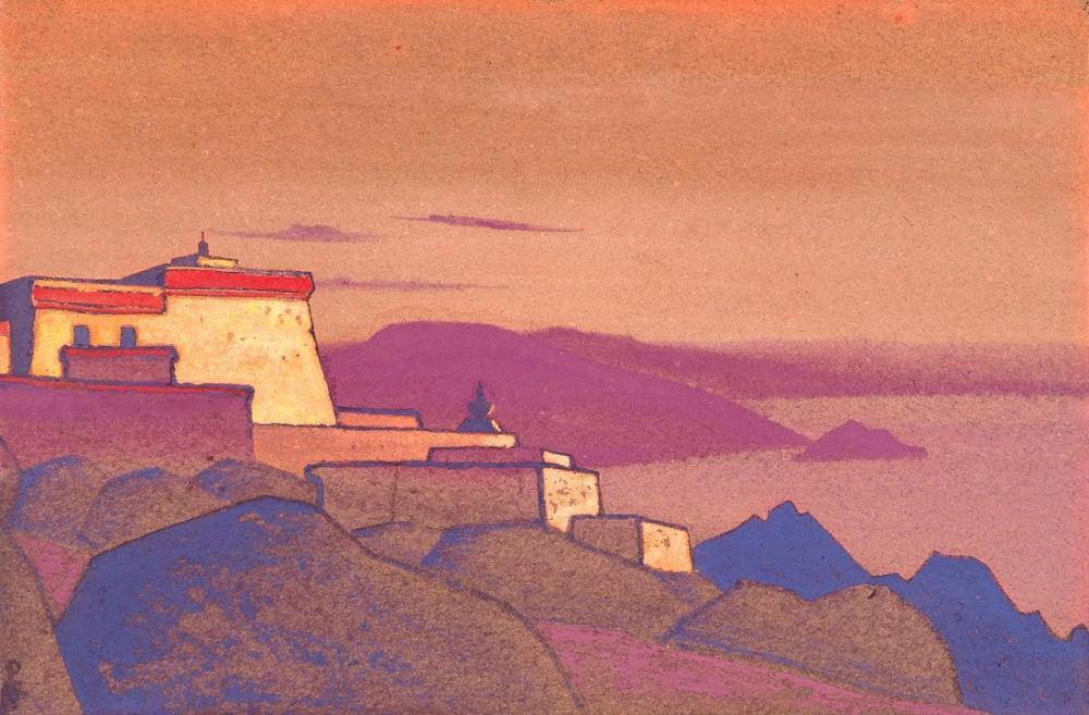 Nicholas Roerich, Tibet Manastırı Gelug Pa, Kanvas Tablo, Nicholas Roerich, kanvas tablo, canvas print sales