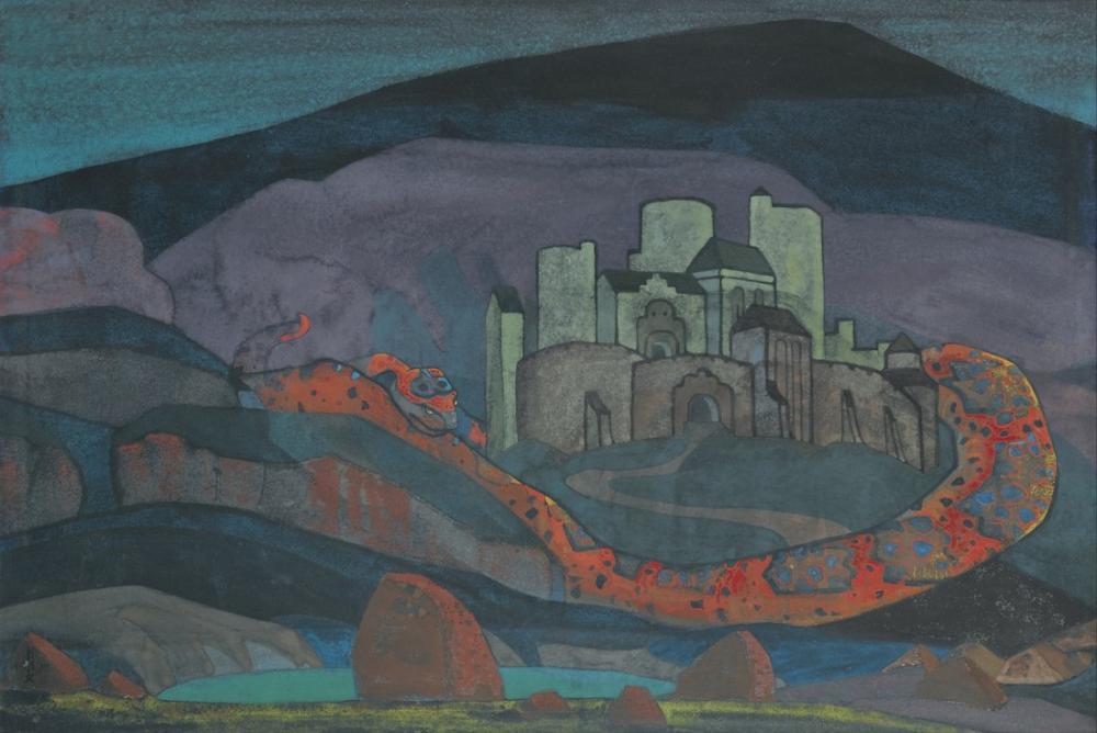 Nicholas Roerich, Mahkum Şehir, Kanvas Tablo, Nicholas Roerich, kanvas tablo, canvas print sales