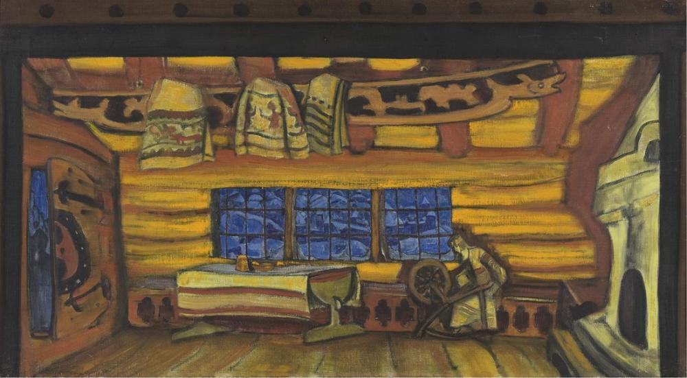Nicholas Roerich, Çar Saltan Masalı Rus Kulübesi, Figür, Nicholas Roerich, kanvas tablo, canvas print sales