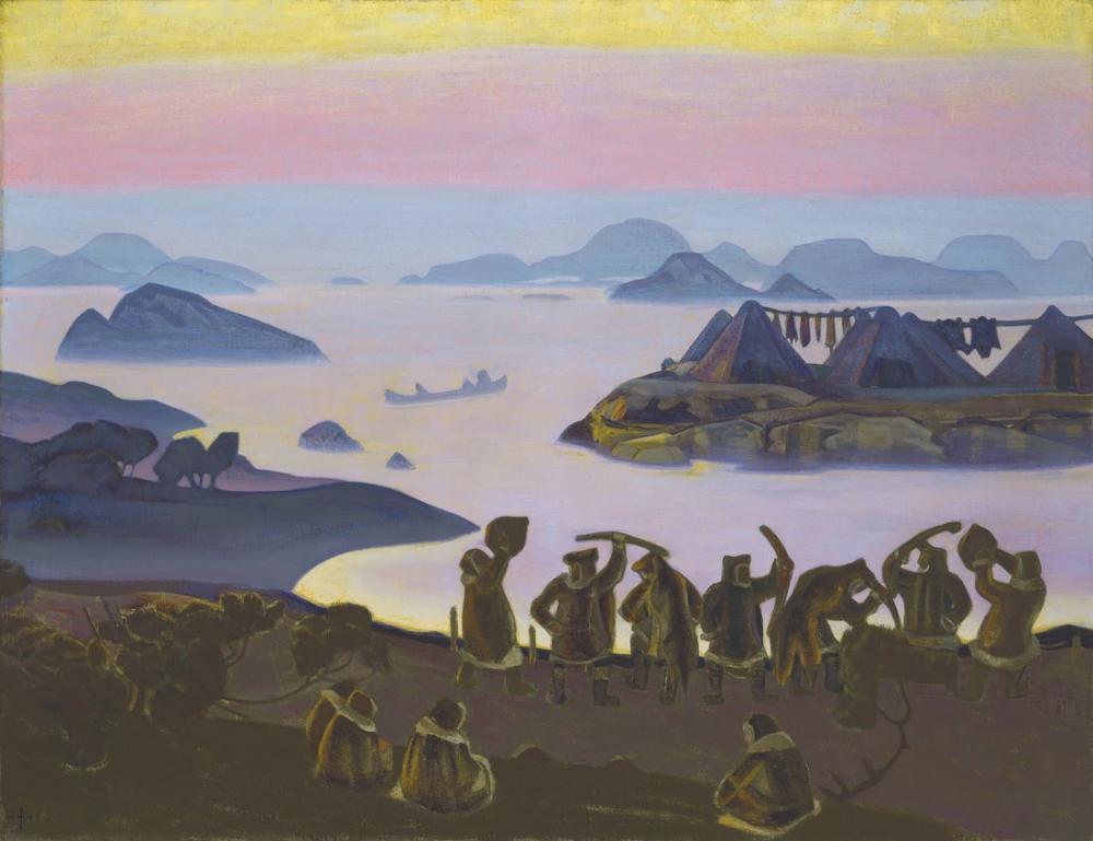 Nicholas Roerich, Güneşin Çağrısı, Figür, Nicholas Roerich, kanvas tablo, canvas print sales