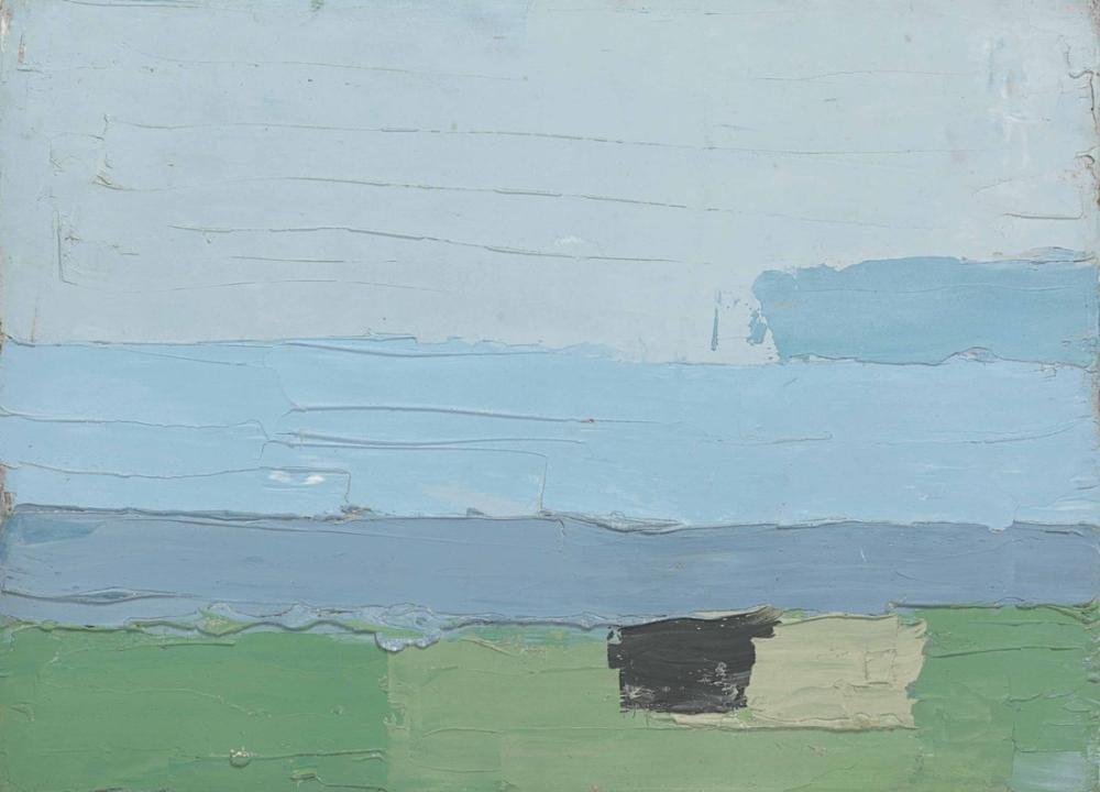 Nicolas De Stael Manzara 1952 II, Kanvas Tablo, Nicolas de Staël, nds03