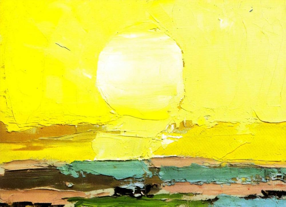 Nicolas De Stael Güneş, Kanvas Tablo, Nicolas de Staël, kanvas tablo, canvas print sales