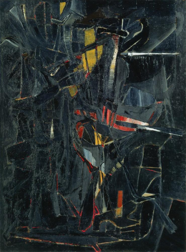 Nicolas De Stael Siyah Kompozisyon, Kanvas Tablo, Nicolas de Staël, nds100
