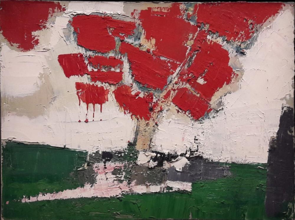 Nicolas De Stael Kırmızı Ağaçlar, Kanvas Tablo, Nicolas de Staël, kanvas tablo, canvas print sales