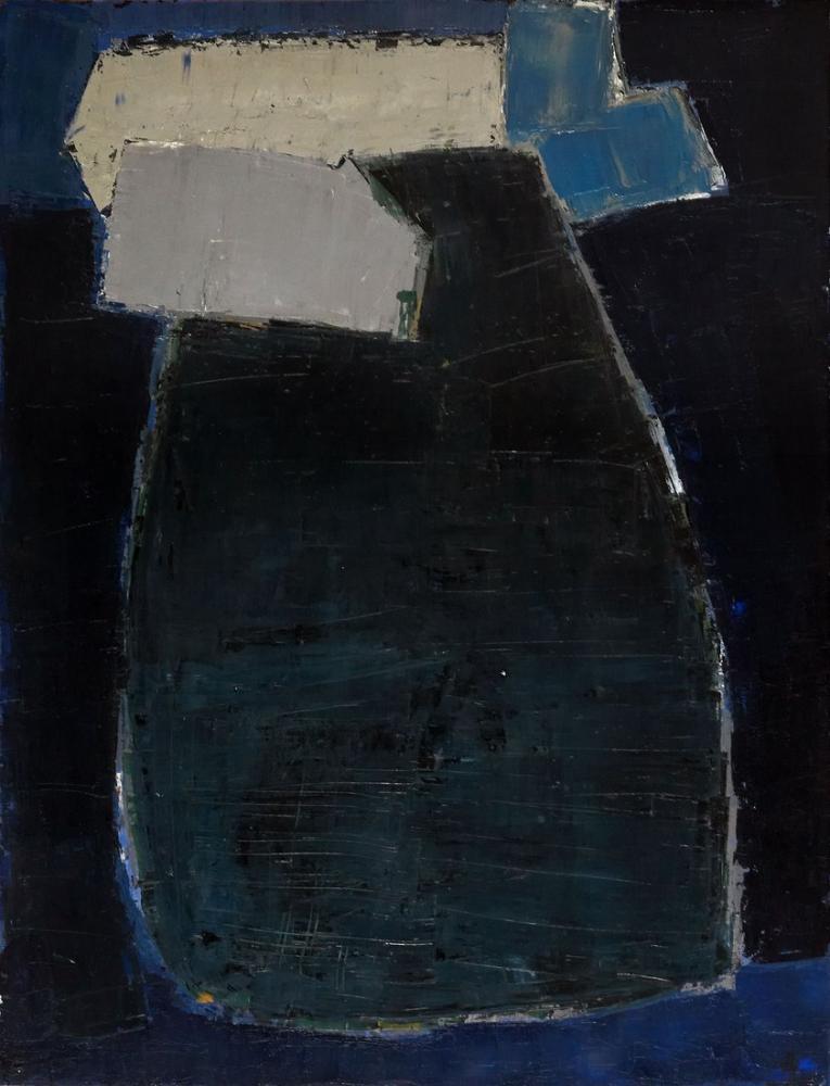 Nicolas De Stael Büyük Mavi Kompozisyon, Kanvas Tablo, Nicolas de Staël, nds41