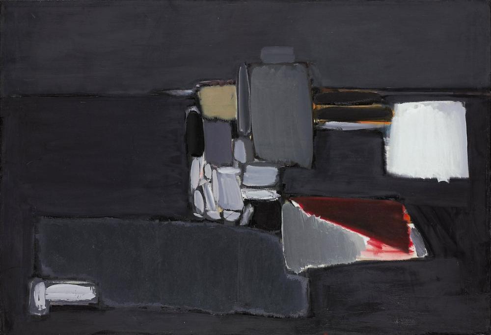 Nicolas De Stael Still Life In Gray, Canvas, Nicolas de Staël, nds63