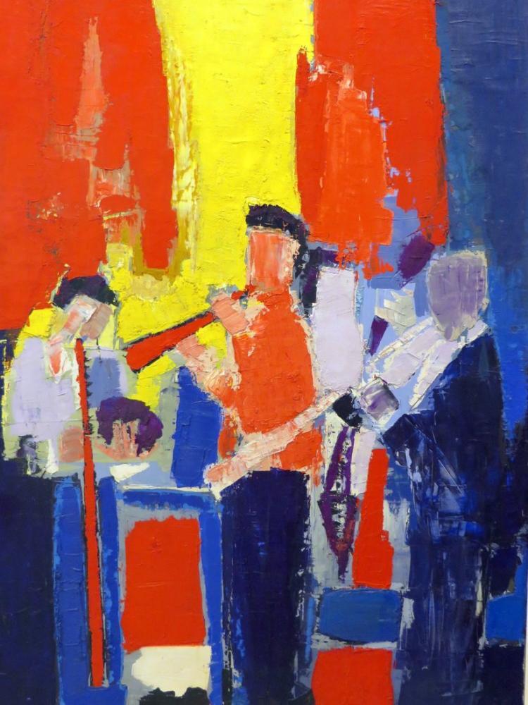 Nicolas De Stael Müzisyenler, Kanvas Tablo, Nicolas de Staël, kanvas tablo, canvas print sales