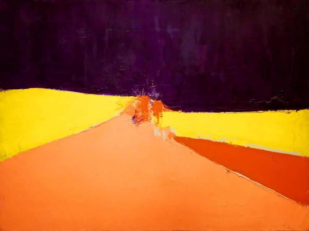 Nicolas De Stael Turuncu Ve Sarı Renkli Kompozisyon, Kanvas Tablo, Nicolas de Staël, nds95