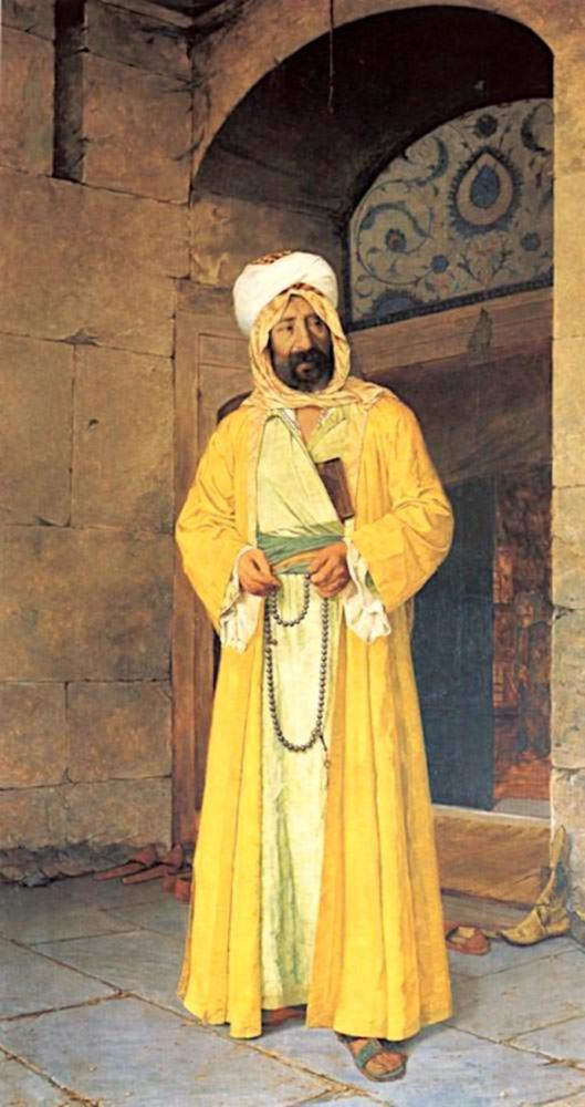 Rüstempaşa Camii Önünde, Osman Hamdi Bey, Kanvas Tablo, Osman Hamdi Bey, kanvas tablo, canvas print sales