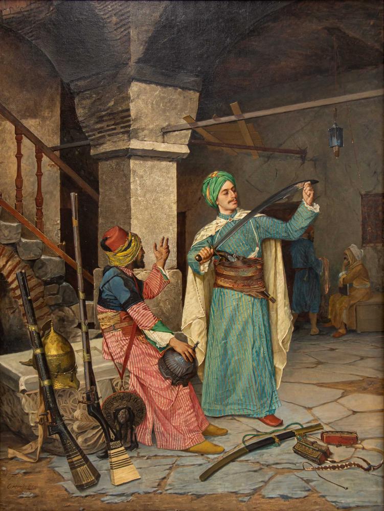 Silah Taciri (Tüccarı, Satıcısı), Osman Hamdi Bey, Kanvas Tablo, Osman Hamdi Bey, kanvas tablo, canvas print sales