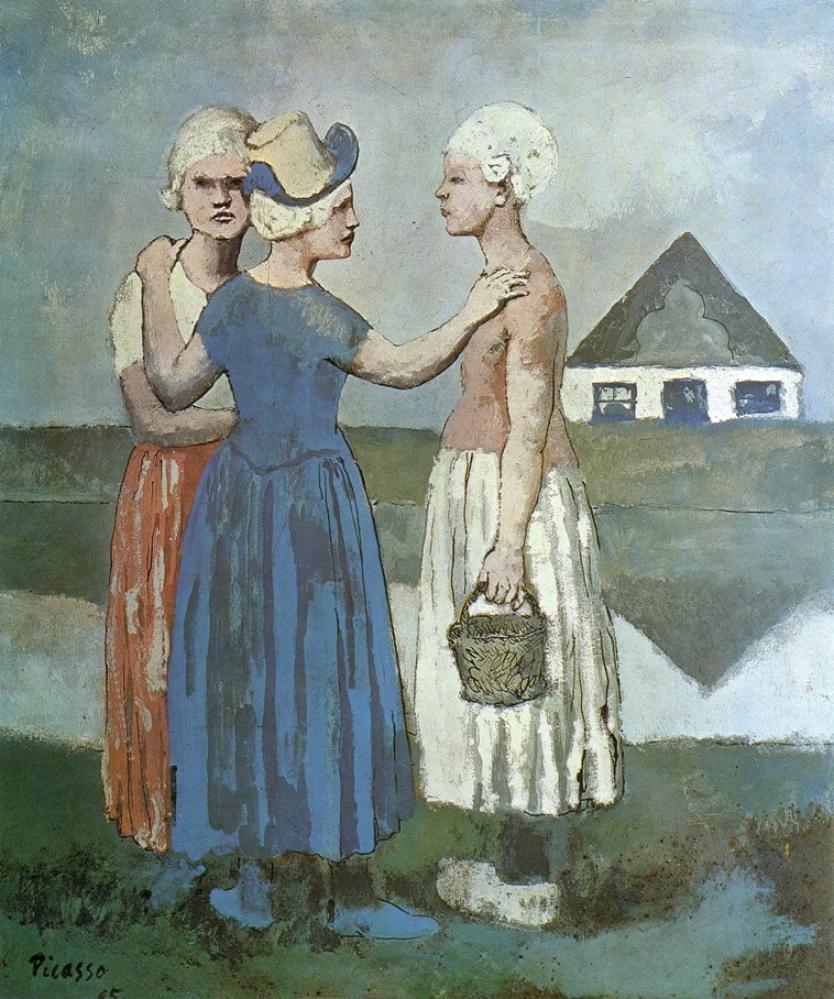 Pablo Picasso Three Dutch Girls, Canvas, Pablo Picasso, kanvas tablo, canvas print sales