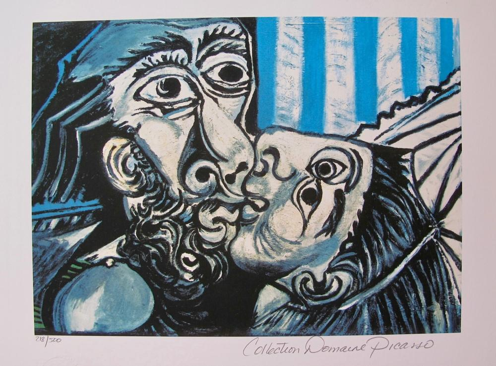 Pablo Picasso Öpücük, Kanvas Tablo, Pablo Picasso, kanvas tablo, canvas print sales
