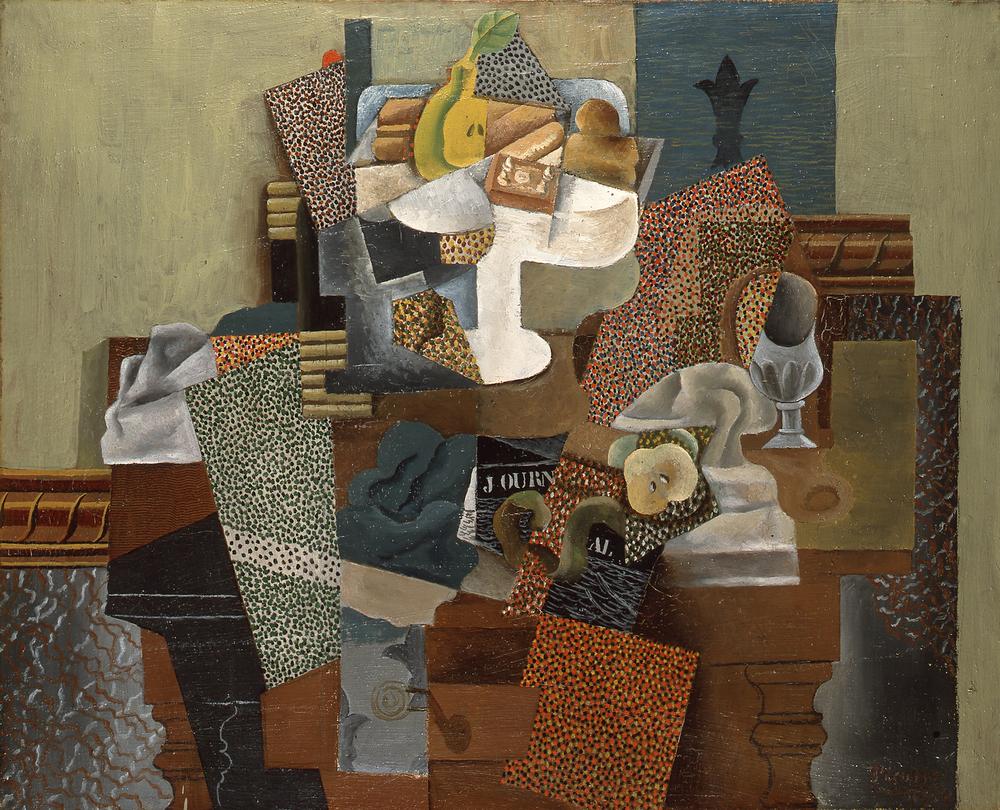 Pablo Picasso Komposto ve Bardaklı Natürmort, Kanvas Tablo, Pablo Picasso, kanvas tablo, canvas print sales