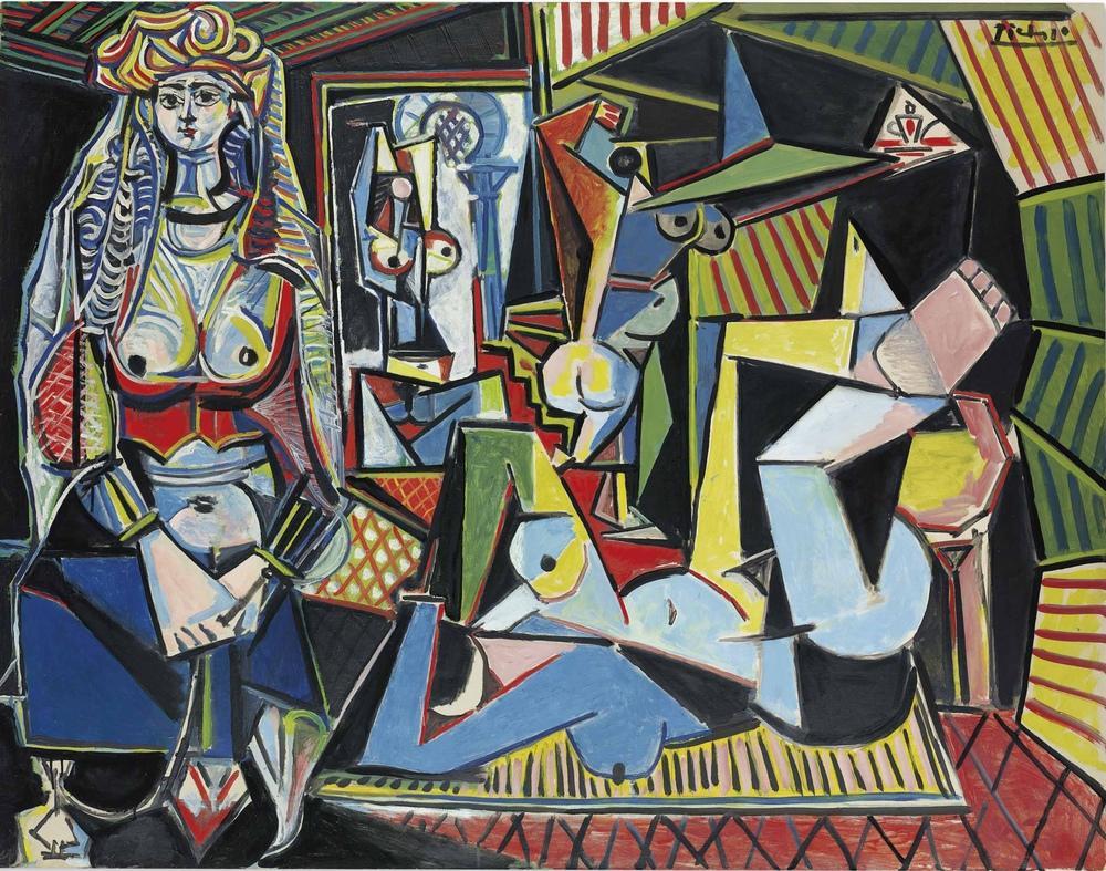Pablo Picasso les femmes d Alger, Figure, Pablo Picasso, kanvas tablo, canvas print sales