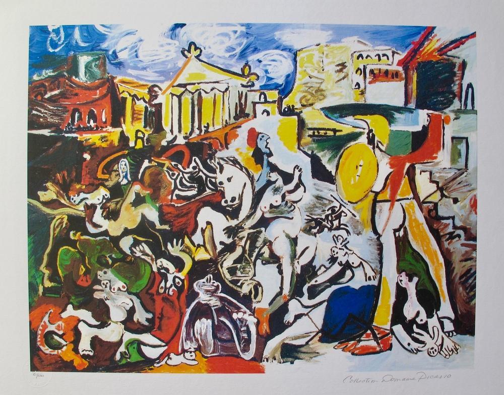 Pablo Picasso Rape of the Sabine Women, Figure, Pablo Picasso, kanvas tablo, canvas print sales