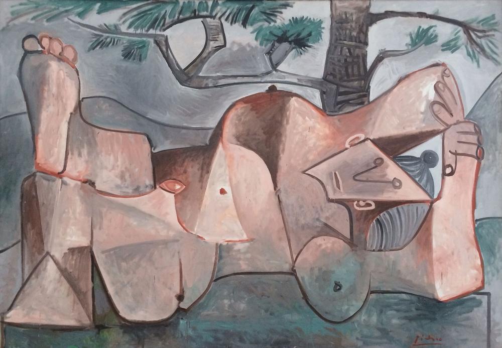 Pablo Picasso Woman Under a Pine Tree, Figure, Pablo Picasso, kanvas tablo, canvas print sales