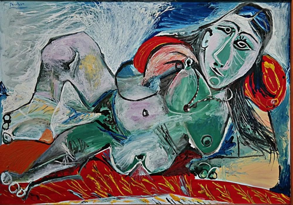Pablo Picasso Nude Woman in a Red Armchair, Figure, Pablo Picasso, kanvas tablo, canvas print sales