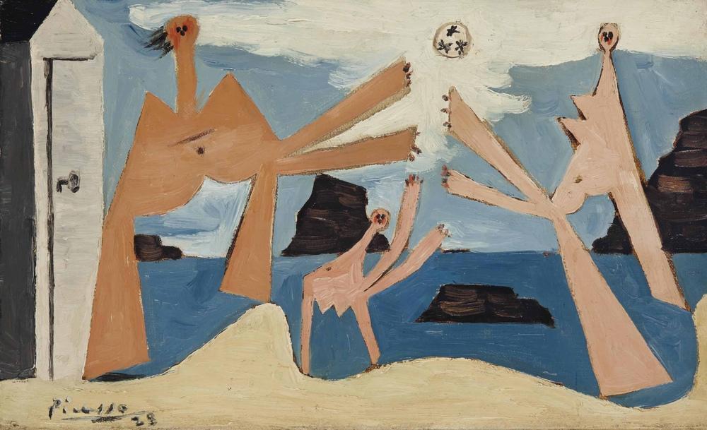 Pablo Picasso Balloon Bathers, Figür, Pablo Picasso, kanvas tablo, canvas print sales