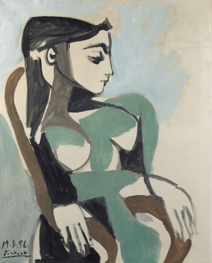 Pablo Picasso Koltuktaki Kadın 2, Figür, Pablo Picasso, kanvas tablo, canvas print sales