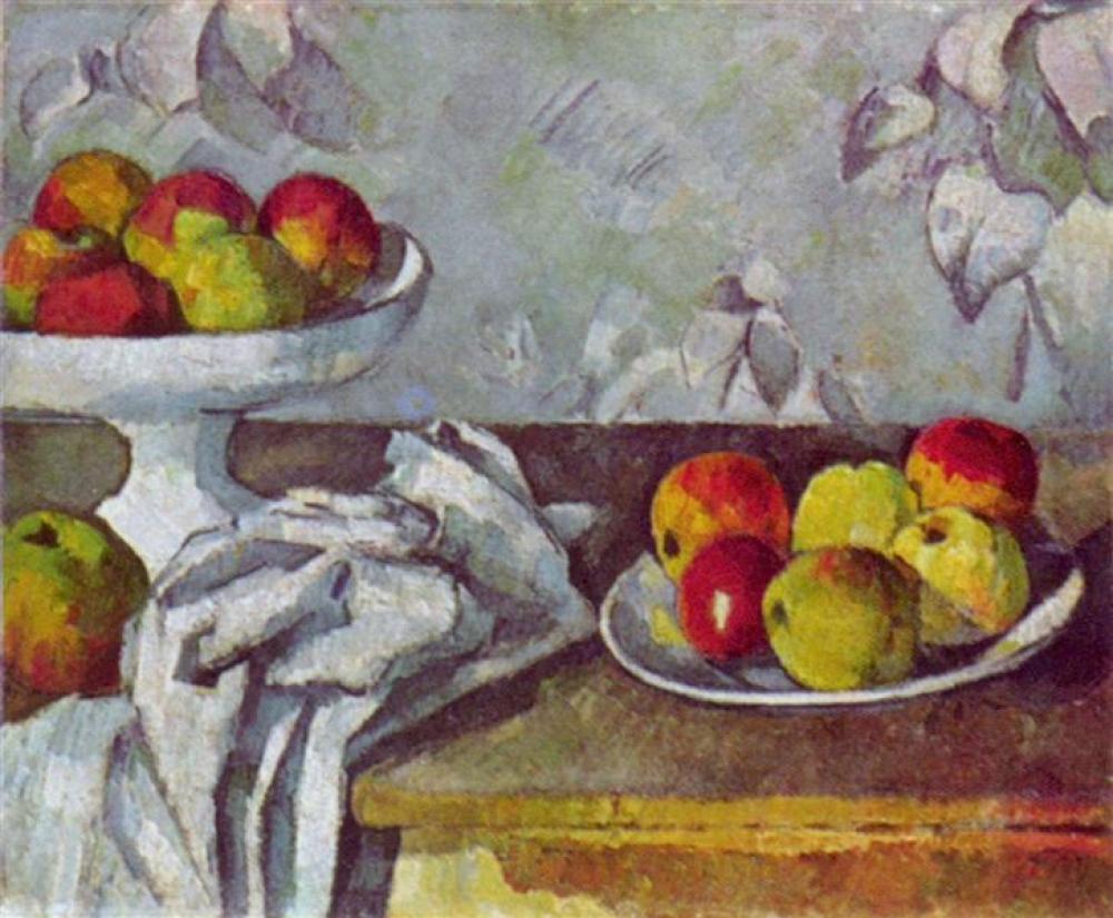 Paul Cezanne Elma ve Meyve Kasesi Natürmort, Kanvas Tablo, Paul Cezanne, kanvas tablo, canvas print sales
