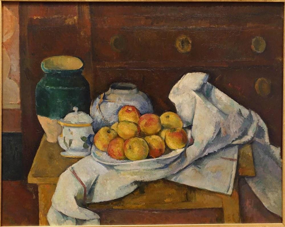 Paul Cezanne Komodinli Natürmort, Kanvas Tablo, Paul Cezanne, kanvas tablo, canvas print sales