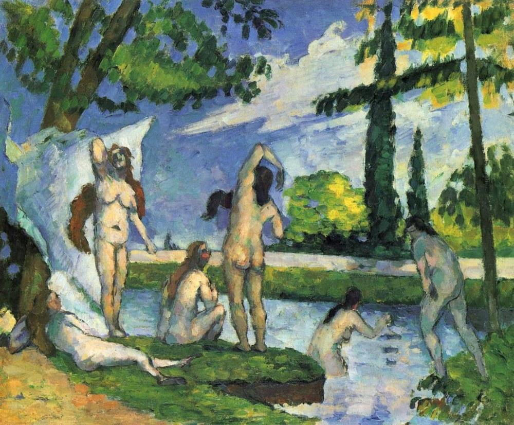 Paul Cezanne Bathers Kanvas tablo, Kanvas Tablo, Paul Cezanne, kanvas tablo, canvas print sales