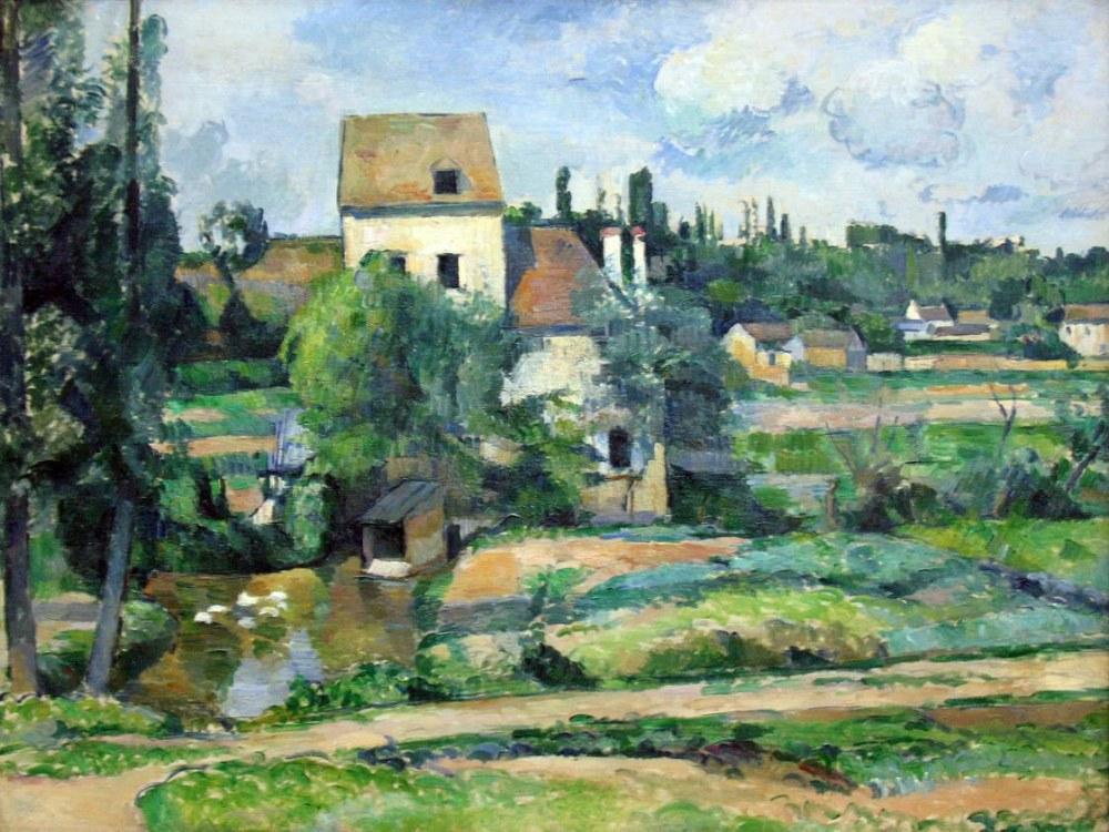 Paul Cezanne Moulin de la Couleuvre at Pontoise, Kanvas Tablo, Paul Cezanne, kanvas tablo, canvas print sales