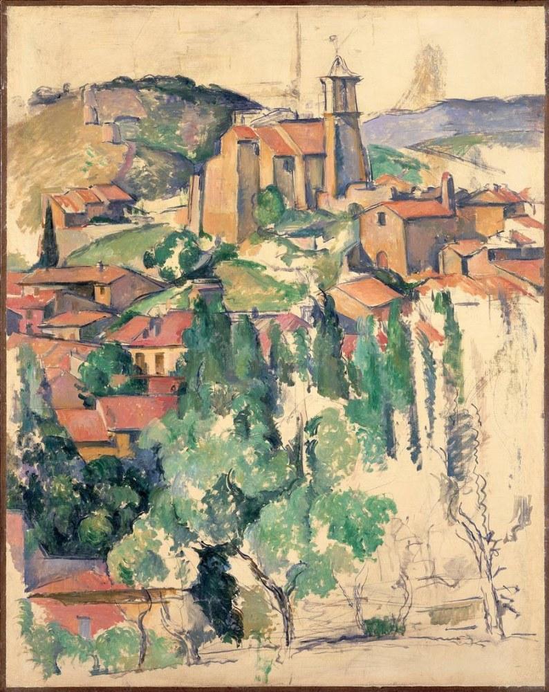 Paul Cezanne Gardenne den görünüm, Kanvas Tablo, Paul Cezanne, kanvas tablo, canvas print sales