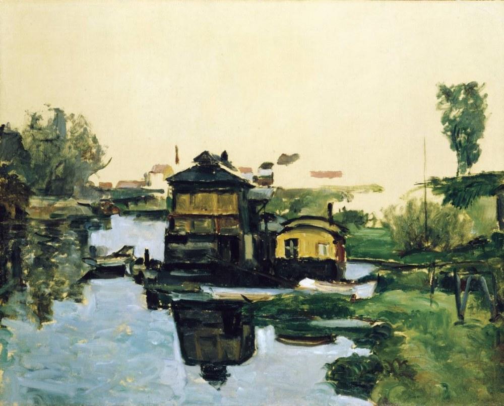 Paul Cezanne Nehirdeki kayıkhane, Kanvas Tablo, Paul Cezanne, kanvas tablo, canvas print sales