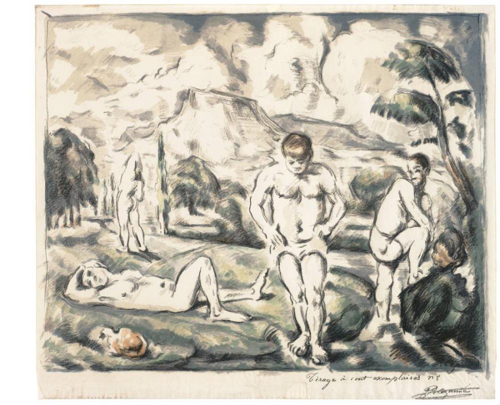 Paul Cezanne The Large Bathers, Kanvas Tablo, Paul Cezanne, kanvas tablo, canvas print sales