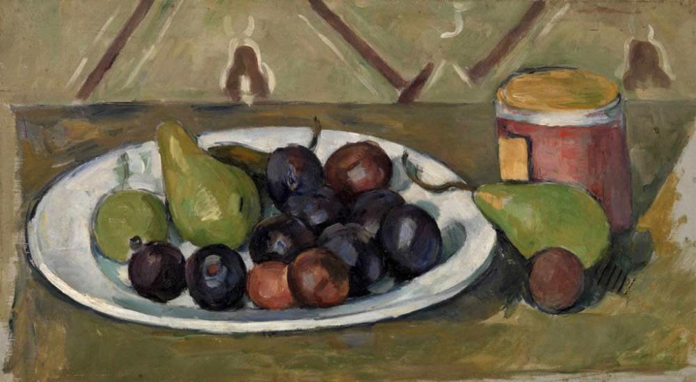 Paul Cezanne Meyve Tabağı ve Reçel, Kanvas Tablo, Paul Cezanne, kanvas tablo, canvas print sales